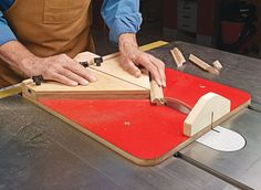 Cutting a wide range of small parts accurately and safely on the table saw has never been easier. This handy sled takes care of the details.