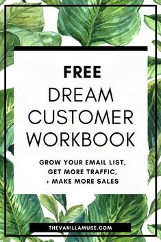 Can't seem to make your blog successful no matter how hard you try? You want to grow your email list, get more traffic to your site, and make more sales, but nothing is working! Stop guessing at what your readers want and start creating the offer of their dreams! Download this free workbook and get clear on WHO your dream customer is, WHAT they want from you, and HOW you can give it to them and make tons of sales!