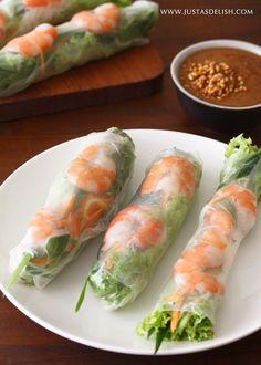 Vietnamese Shrimp Roll with Peanut Hoisin Sauce ((Gỏi Cuốn with Nước Lèo)