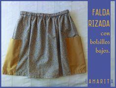 Lamarita DIY: Falda rizada con bolsillos DIY Crafty, Sewing, Skirts, Projects, Diy, Outfits, Magic, Future, Ideas