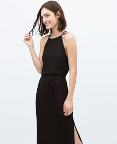 LONG DRESS WITH CROSS-OVER STRAPS-Dresses-Woman-COLLECTION AW15 | ZARA United States