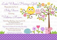 Happi Tree Owl Baby Shower Invitation
