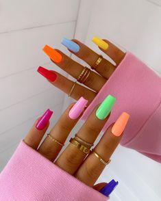 Fancy Nails Designs, Girls Nail Designs, Green Nail Designs, Nail Art Designs, Matte Pink Nails, Pink Acrylic Nails, Pastel Nails, Green Nail Art, Green Nails