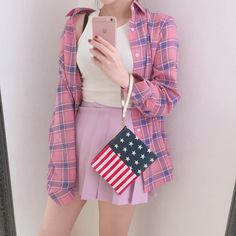 #korean, #fashion, #ootd, #pink