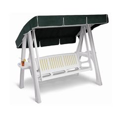 Italian Scirocco 3 seater swing hammock by Scab, available in green and white
