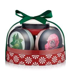 The Body Shop Best of Body Butter Festive Dome Gift Set-British Rose-Fuji Green Tea-Strawberry-Shea-Coconut The Body Shop, Body Shop Christmas, Christmas Stuff, Christmas Shopping, Christmas Gifts, Holiday, British Rose, Cosmetic Sets, Body Butter
