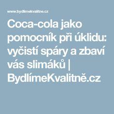Coca-cola jako pomocník při úklidu: vyčistí spáry a zbaví vás slimáků | BydlímeKvalitně.cz