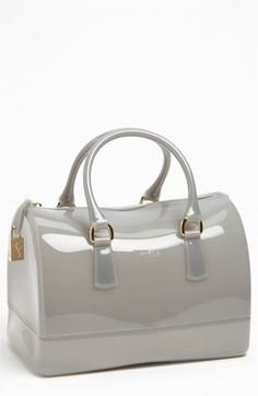 Furla 'Candy' Rubber Satchel - I don't know why I like a $228 rubber purse, but it's cute