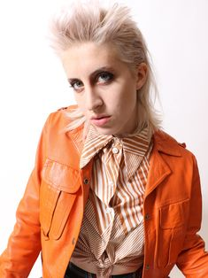 MuLLeT PhoTOShoOT Red Leather, Leather Jacket, Mullets, Pixie, Photoshoot, Jackets, Fashion, Studded Leather Jacket, Down Jackets