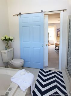 How-to-install-a-rolling-door - (for the master bedroom/bath separation)