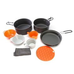 Portable Alluminum Cooking Set with Pot, Pan, Bowl and Cups – The Sports Outlet Camping Tools, Camping Equipment, Camping Gear, Cooking Beets, Cooking Salmon, Cooking Ribs, Cooking Turkey, Cooking Ribeye Steak, Hiking Supplies