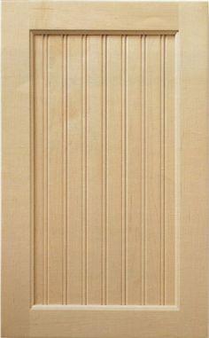 Bead Board Panel Cabinet Door -DIY version for bedroom doors?
