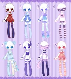 Outfit adopts: Lingerie / pjs CLOSED by Lunadopt on DeviantArt