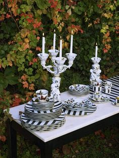 Christian Lacroix designs for Vista Alegre porcelain dinnerware.