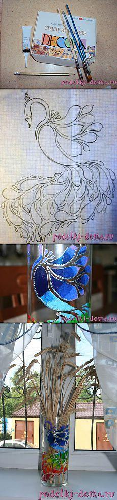 Роспись вазы | (: креатифф на дому :)