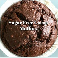 Start your day off with this recipe for Sugar Free Cocoa Muffins that are also so delicious to eat now or even later as a snack.