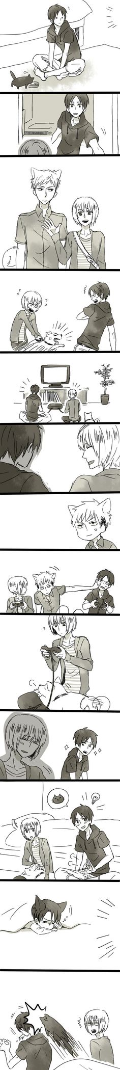 Attack on Titan - I don't ship Jean with Armin but it's still cute !
