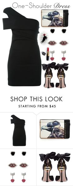 """Untitled #1340"" by sunnydays4everkh ❤ liked on Polyvore featuring Dsquared2, DANNIJO, Betsey Johnson, Miu Miu and Chanel"