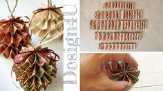 #tutorial, oggi vi dico come creare degli #ornamenti in #carta, che potete usare come #segnaposto o come #palline #natalizie. #natale #decor #christmas
