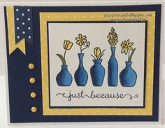 Navy Vivid Vases by gails - Cards and Paper Crafts at Splitcoaststampers