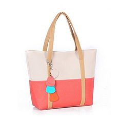 0cad9e8ee1b AK Collection Two Color Vegan Leather Tote Bag. Marcus Emporium