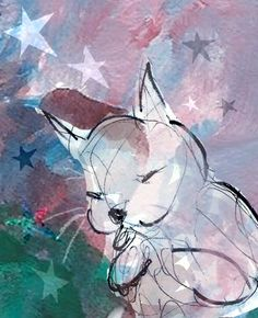 Divine Cat with Stars print by ImYourNonny on Etsy, $12.00
