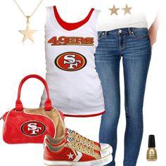 Cute San Francisco 49ers Tank Top, San Francisco 49ers Converse Shoes