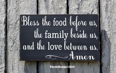 Kitchen Decor Bless The Food Before Us Sign Hand Painted Kitchen Wall Art Dining Room Decor Rustic Wood Plaque Blessings Thanksgiving Signs