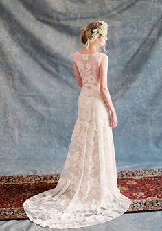 Claire Pettibone #Romantique 'Gardenia' wedding dress | Bohemian Rhapsody Collection.  Now available at Nicole Bridal shop in PA, www.nicolebridal.com