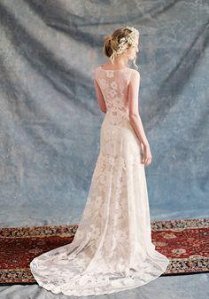 Claire Pettibone #Romantique 'Gardenia' wedding dress   Bohemian Rhapsody Collection.  Now available at Nicole Bridal shop in PA, www.nicolebridal.com