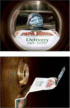 Doctor Who - Weeping Angel pizza delivery - this looks fun...