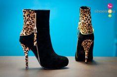 DBDK Calista-2 Black and Leopard Ankle Booties - Shoes 4 U Las Vegas