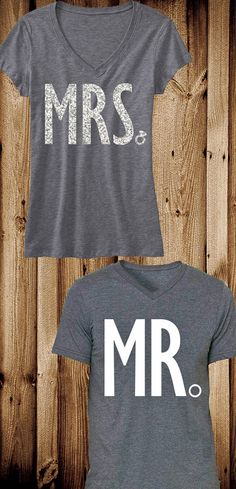 MRS Bride Shirt MR Groom Shirt Special Deal Bride Vneck Wedding shirt groom Groom shirt weddi - Love Shirts - Ideas of Love Shirts - - Great shirts! Groom Shirts, Bride Shirts, Wedding Shirts, Wedding Events, Our Wedding, Dream Wedding, Weddings, Wedding Receptions, Wedding Reception Outfit