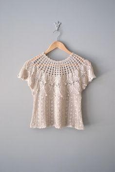 1970s crochet blouse