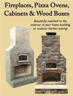 Round Grove Products released prebuilt and ready-to-finish outdoor fireplaces, pizza ovens, cabinets and wood boxes.