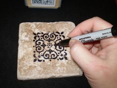coaster tiles | Let ink dry for 5 to 10 minutes, then place tile onto a cookie ...