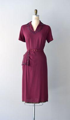 1940s dress / beaded 40s dress / Intermezzo by DearGolden on Etsy, $224.00