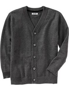 Button-Front V-Neck Cardigans. adorable for a little boy.