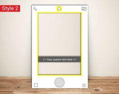 Snapchat Frame Custom Designed Photo Booth Prop by Framesta