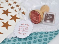 Konturensticker Sterne aus Kupferfolie I konturengeschnittene Aufkleber I Star I Stempel Ranke I xmas stamp I Casa di Falcone