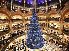Swarovski-decorated tree, Galeries Lafeyette, Paris, 2012.