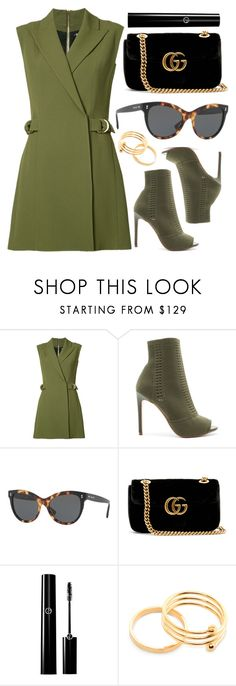 """Green"" by smartbuyglasses ❤ liked on Polyvore featuring Balmain, Steve Madden, Gucci and GREEN"