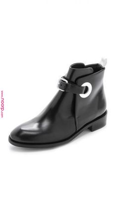 dd0c4717d7 le cuir noir の tendance chaussures acne studios allea flat boots shoes  black leather