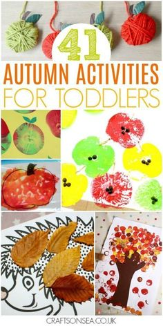 Looking for autumn activities for toddlers? We\'ve got all the inspiration you need for your kids with the most fun crafts and easiest activities including sensory play, suncatchers, mess free activities and more! #kidscrafts #autumn #fall #toddler #preschool