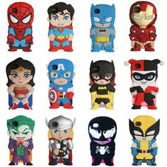 Fashion 3D Superheroes Silicone iPhone Cases for iPhone 4/4S/5/5S/5C