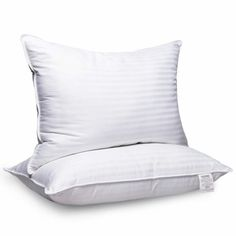Adoric Pillows for Sleeping, 2 Pack Premium Hotel Bed Pillows,Breathable Gel-Fiber Down Alternative Cooling Pillow Good for Side and Back Sleeper 20 x 28 White Queen Best Bed Pillows, Best Pillow, Stiff Shoulder, Premium Hotel, Cooling Pillow, Neck And Back Pain, Hotel Bed, Bohemian Accessories, White Queen