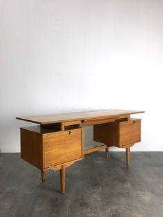 RARE Vintage Milo Baughman Drexel Floating Vanity Desk Mid Century Modern | eBay