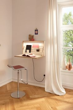 Multifunctional Furniture Ideas for Modern Small House Home Office Design, Home Office Decor, Home Decor Bedroom, Space Saving Furniture, Home Decor Furniture, Furniture Design, Furniture Ideas, Desks For Small Spaces, Multifunctional Furniture Small Spaces