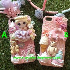 100% Handmade Art Cute Forst Princess Sweet Pink Girls Deco Cases iPhone 5S case iPhone 5C case iPhone 4 4S 5 Samsung galaxy S4 S3 Note2 3