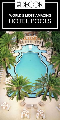 Vacation doesn't truly feel like vacation until you're sitting poolside sipping a cocktail. But we're not the types to settle for any old swimming hole. Click through for photos of the world's most amazing hotel pools.